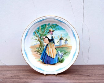 Spanish Irabia Fabrica de Porcelana Inalterable Decorative Porcelain Plate