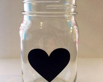 50 Heart shaped black chalkboard labels Stickers Valentines day birthday wedding bridal baby shower