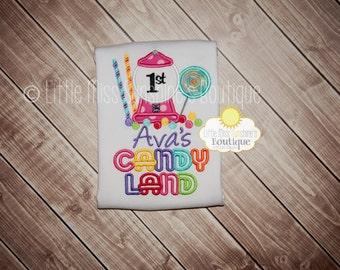 Candy Land Birthday Shirt, Candy Land Shirt, Candy Land First Birthday, Candy Shirt