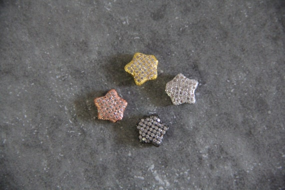 CZ Micro Pave 11mm Star Beads