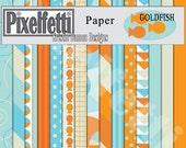 Goldfish Digital Scrapbooking Kit, Paper