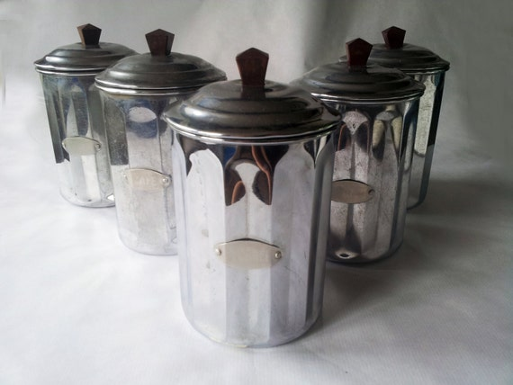Vintage French Kitchen CANISTERS SET / By PetitesChosesDeLaVie