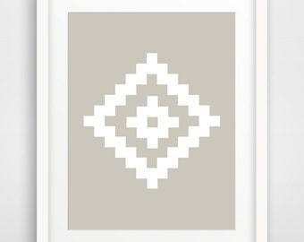 Nordic Art, Geometric Art, Beige Art, Geometric Prints, Ikat Art, Ikat Print, Nordic Prints, Beige Wall Art, Printable Art, Nordic Prints