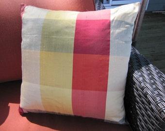 Bright color silk dupioni pillow