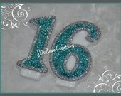 Frozen Inspired Birthday Candle Set in Teal - Choose the Numbers 10-99