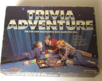 Vintage Collectible 1983 TRIVIA ADVENTURE Game PRESSMAN Game to Reach Planet Quizaar -1983.Complete Good Condition