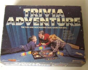 Vintage Collectible 1983 TRIVIA ADVENTURE Game PRESSMAN Game to Reach Planet Quizaar -1983.Complete Good Condition