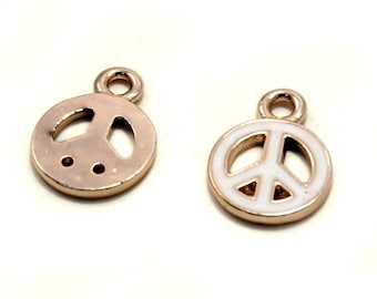 Peace Symbol charms (pack of 4)
