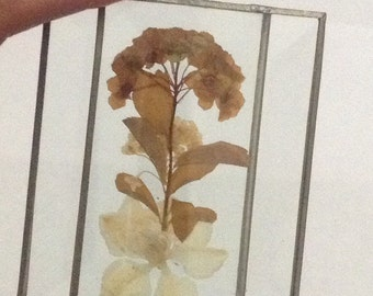 Vintage Pressed Glass Flower Decor