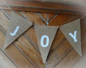 Christmas Banner Christmas Decor Joy Garland Joy Banner Joy Bunting Christmas Garland Holiday Banner Holiday Decor Banner Scandinavian
