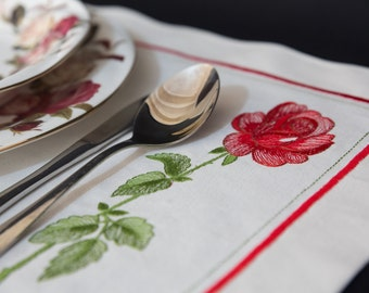 2 Embroidery Placemats