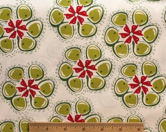 Kathy Davis Ambrosia Candy KD24 Citrus Green red white floral flowers whimsical sewing quilting 100% cotton fabric by the yard