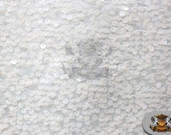 "Taffeta Sequin Raindrop Fabric WHITE / 52"" Wide / Sold by the yard"