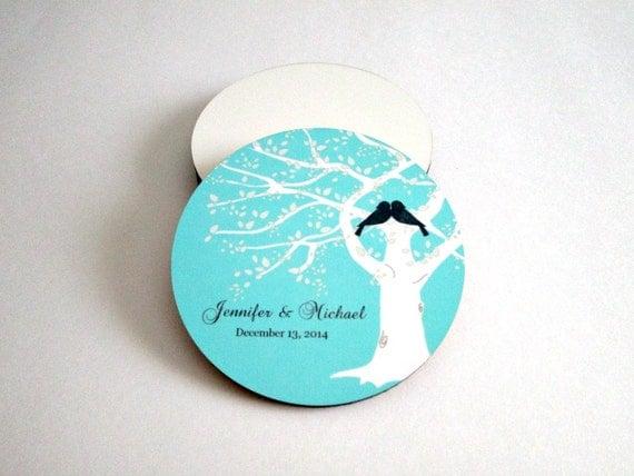 Wedding coasters wedding favors personalized wedding gift drink