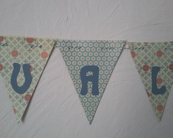 banner boy for personalised birth gift: the application name (garland, pennant banner, flag, banner)