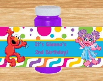 Custom Abby and Elmo Bubble Wrappers