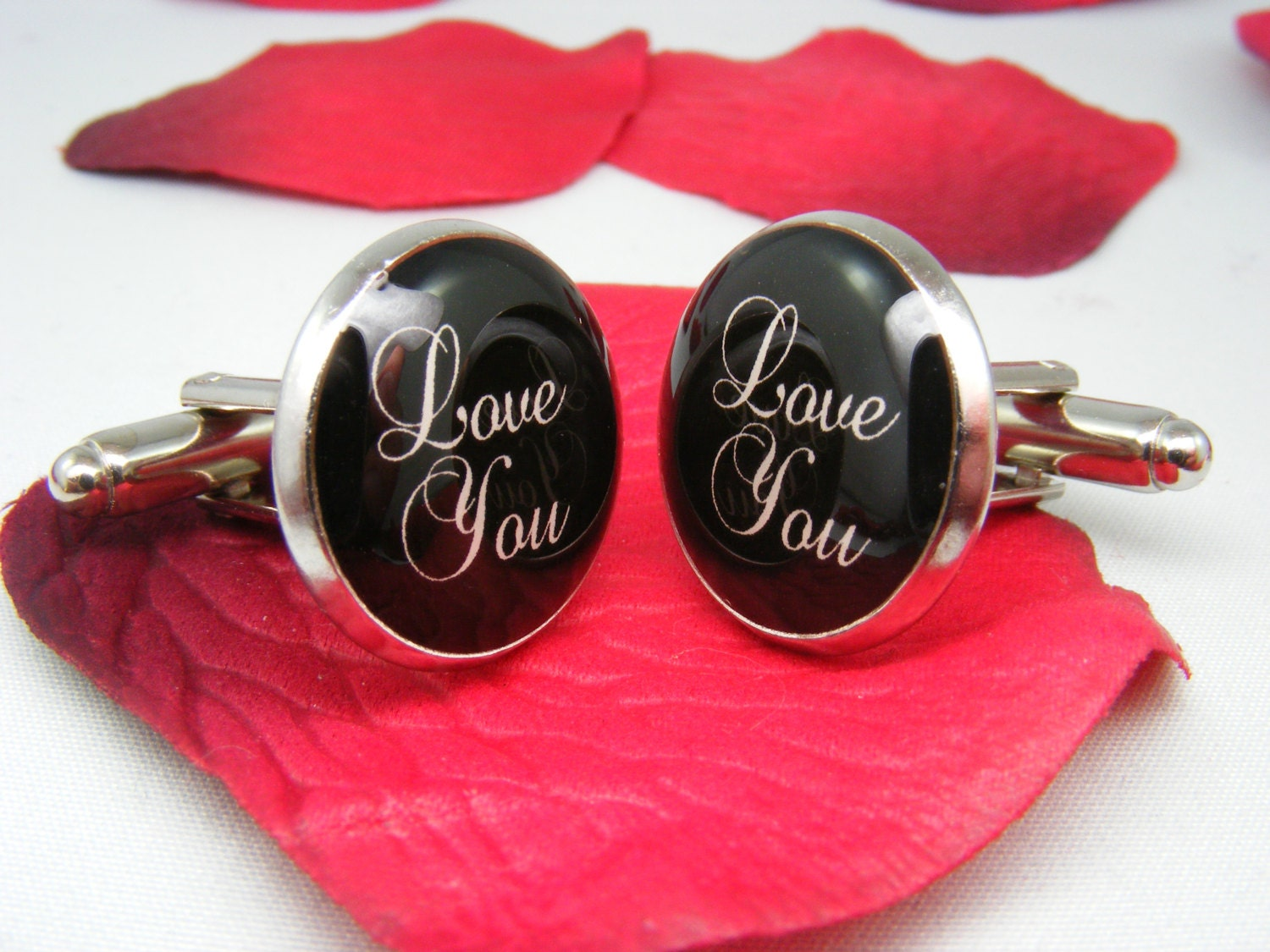 Love You Cufflinks   Valentineu0027s Day   Mens Accessories   Geekery    Boyfriend Gift   Husband Gift   Unique Gift Ideas   Gift For Him   Love