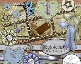 High Society Kit No.2 - Digital Scrapbooking