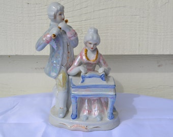 Sale: Vintage Victorian/Colonial Figurine of a Couple Making Music Together