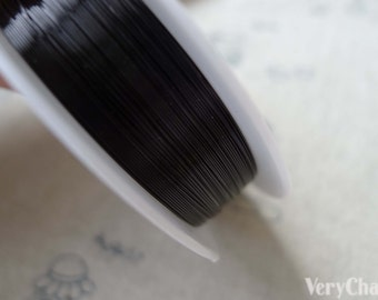 72ft (22m) of Black Tone Brass Wire 0.3mm 28gauge A7099