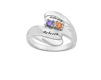 Ring with Stones & Engraving (MR90667-2) ss