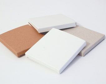 18 White, Gray and Kraft THIN Gift Boxes 3.23x3.43x0.4 I Party favors, wedding favors, presentation boxes, packaging, card stock small boxes