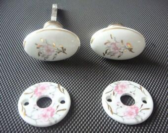 Poign e de porte vintage etsy - Bouton de porte en porcelaine ...