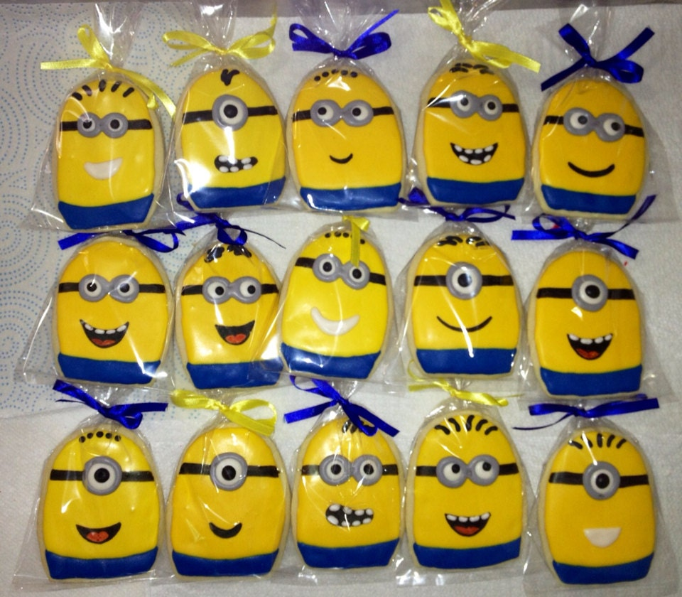 Minions Minion Cookies Birthday Party Favors