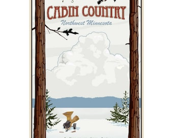 Cabin Country Fargo Travel Ad Wall Decal #44825