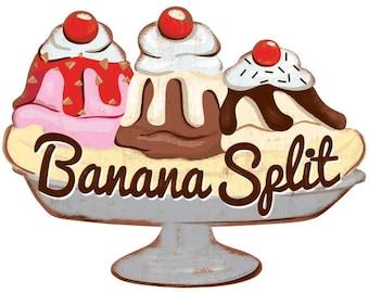 Banana Split Ice Cream Parlor Wall Decal #47780