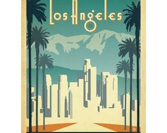 Los Angeles California Art Deco Wall Decal #48316