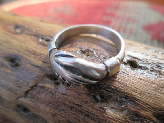 James Avery Clasped Hands Sterling Ring Size 6