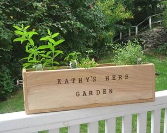 Personalized Cedar Box Wood, Great Garden Planter, Window Box, Home Decor