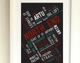 NORTH END // Art Print