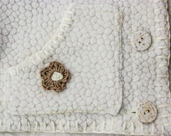 SEWING PATTERN, Baby Fleece Jacket, Crochet Flower Appliqué, Baby Jacket, Toddler Jacket, Kids Jacket, Three Sizes