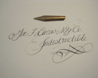 Indestructible  Pen Nib -- fine flexible nib for Calligraphy and Spencerian writing - over 100 years old