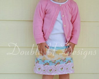 Strip Quilt Skirt pattern - girls' skirt  - PDF pattern
