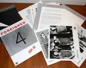Foreigner 4 Press Kit 1981