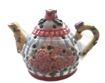 Tea Pot Candle Cover Home Decor Fits On Top For Light To