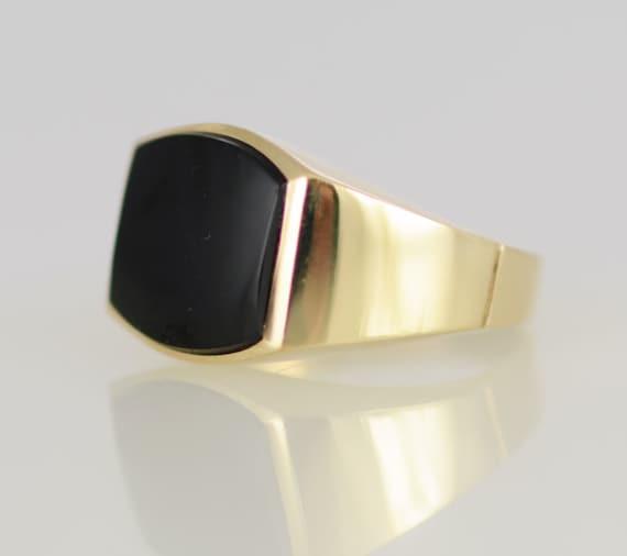 Mens K Gold Black Onyx Rings