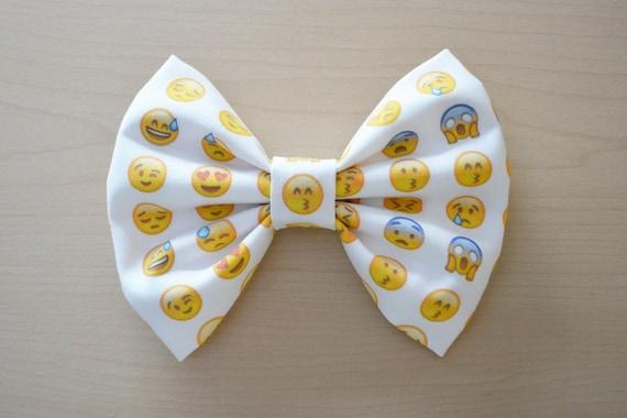 X Bow Emoji Emoji Hair Bow