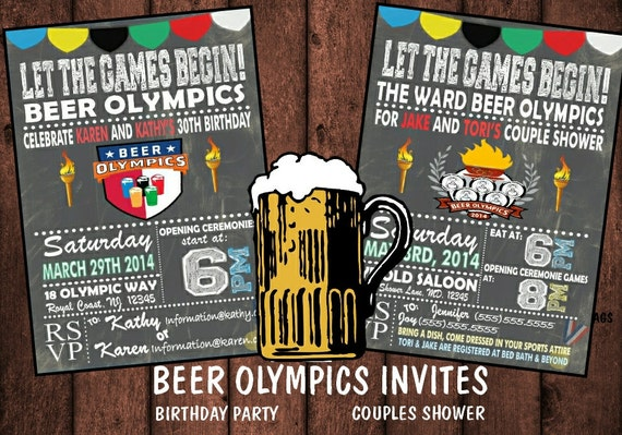 Beer Olympics Invitationbirthdaycouples By Bowersink On Etsy