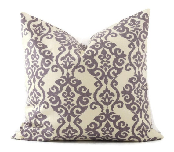 Purple Pillow Cover 22x22 Pillow Cover Decorative Pillows
