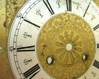Clock Face Antique Metal Ornate Brass Clock Dial Parts
