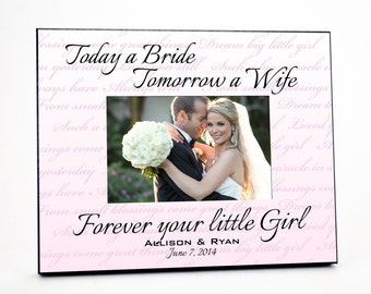 Forever Your Little Girl Wedding Picture Frame
