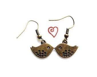 READY Earrings on Sale, bird earrings, birds jewelry, birds accessories, bird statements, Love Birds / threebirdnest / bird earrings. READY