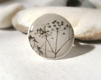 Ring of Twilight . Adjustable ring of polymer clay . Natural motifs . Ring . Nature . Grass .