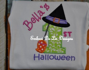 Babies 1st Halloween Personalized Embroidery Onesie!