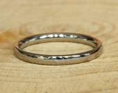 2mm Wide Comfort Fit  Court Shape Titanium Plain band Wedding Ring