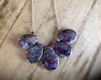 Purple Jasper Statement Necklace